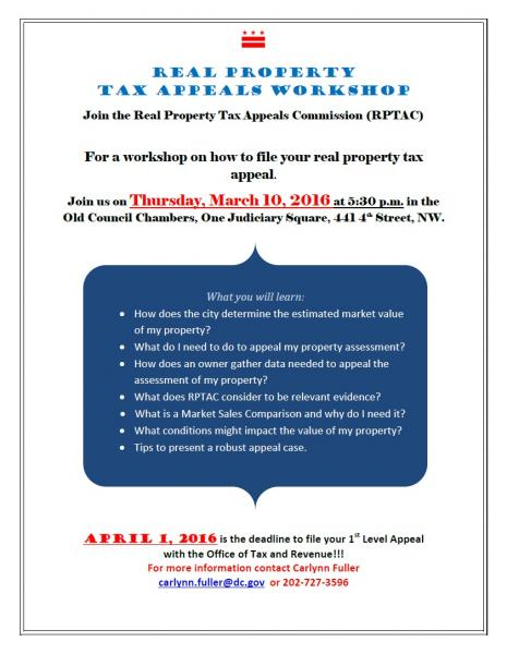 Real Property Tax Appeals Workshop